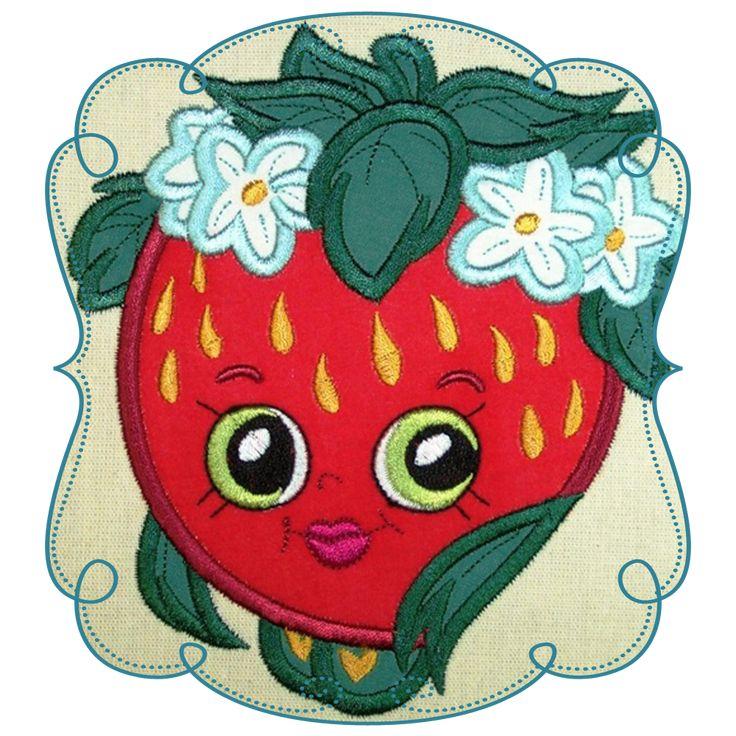 Shopkins Strawberry Applique