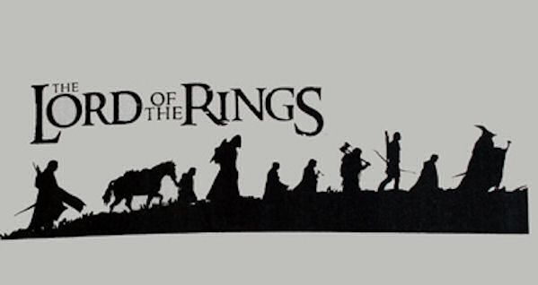 Lotr Silhouette Lord of the rings ring | Lord of the rings