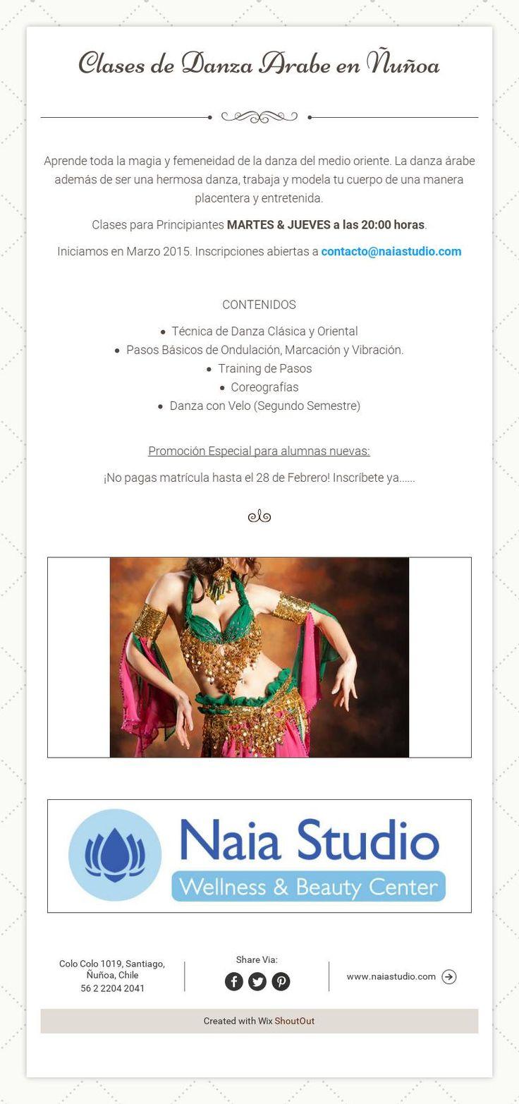Clases de Danza Arabe en �u�oa