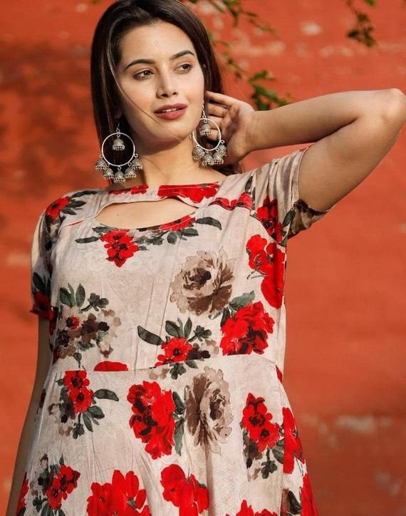Free Shipping Women/'s Cotton Printed Kurti