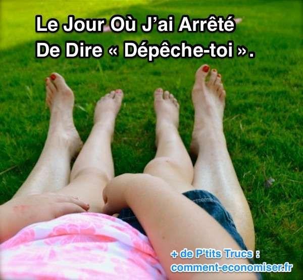 Aujourd'hui, j'ai choisi de vivre l'instant présent.  Découvrez l'astuce ici : http://www.comment-economiser.fr/le-jour-ou-j%E2%80%99ai-arrete-de-dire-depeche-toi.html?utm_content=buffer31883&utm_medium=social&utm_source=pinterest.com&utm_campaign=buffer