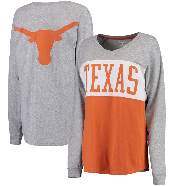 Women's Gray Texas Longhorns Elite Long Sleeve T-Shirt
