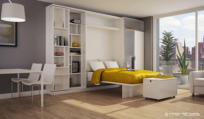 Cama rebatible monoambiente loving studios muebles for Decorar departamentos con feng shui