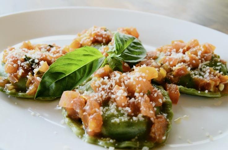 Spinach Ravioli    Caterer idea? Fig Tree Cafe