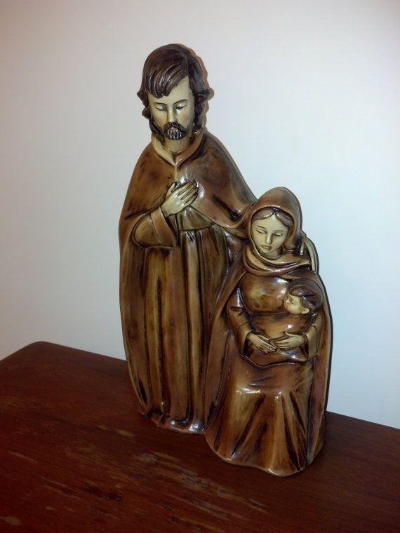 Rustic Nativity Scene Jesus Mary and Joseph Resin by RCEastman, $10.00