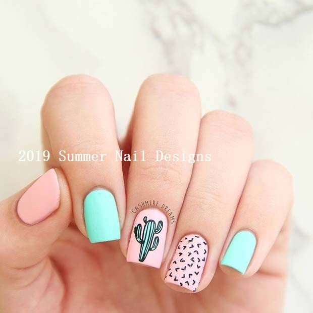 33 Cute Summer Nail Design Ideas 2019 #nail
