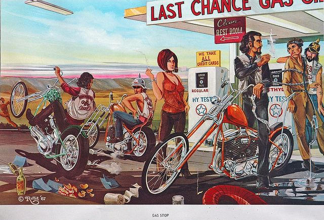 1960s Outlaw Biker Culture Poster published by Ed Roth in ...