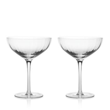 William Yeoward American Bar Corinne Cocktail Glasses, Pair – Clear
