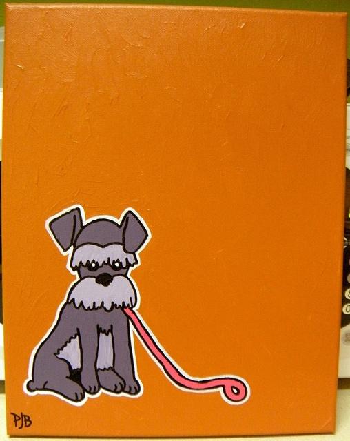 Schnauzer: Baby Rosco, Acrylic Paintings, Minis Schnauzers, Cartoon Paintings Of Dogs, Miniatures Schnauzers, Cartoon Schnauzers, Schnauzerbabi Dogs, Acrylics Paintings, Schnauzers Baby Dogs