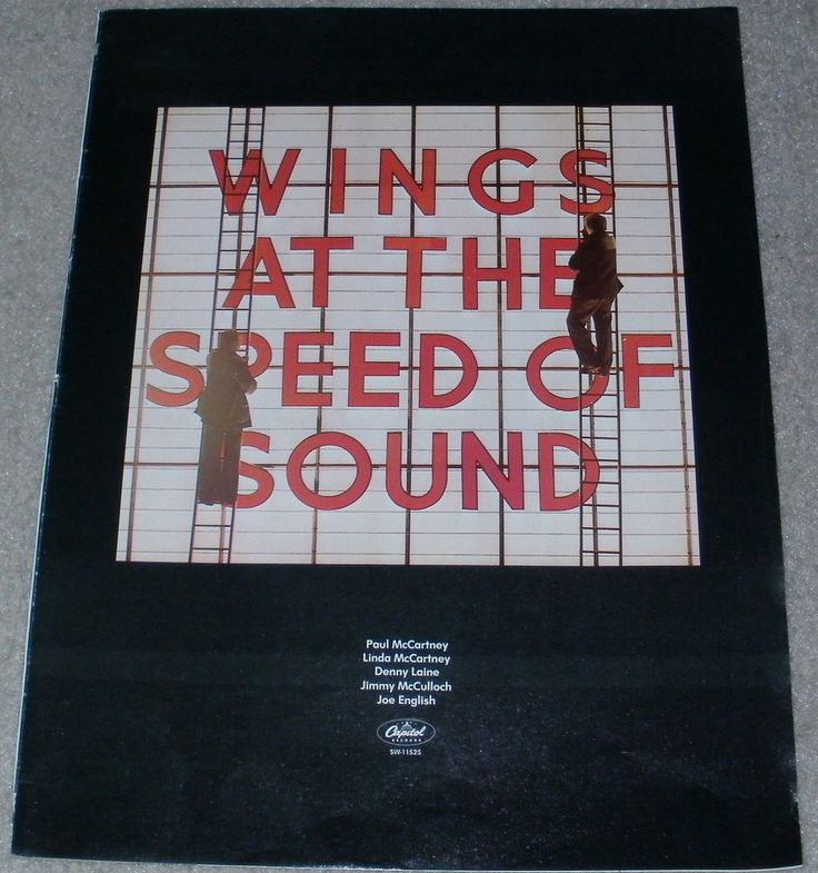 Wings Music Ad Speed Of Sound Paul McCartney Full Page