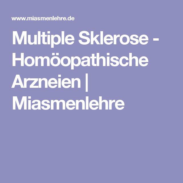 Multiple Sklerose - Homöopathische Arzneien | Miasmenlehre