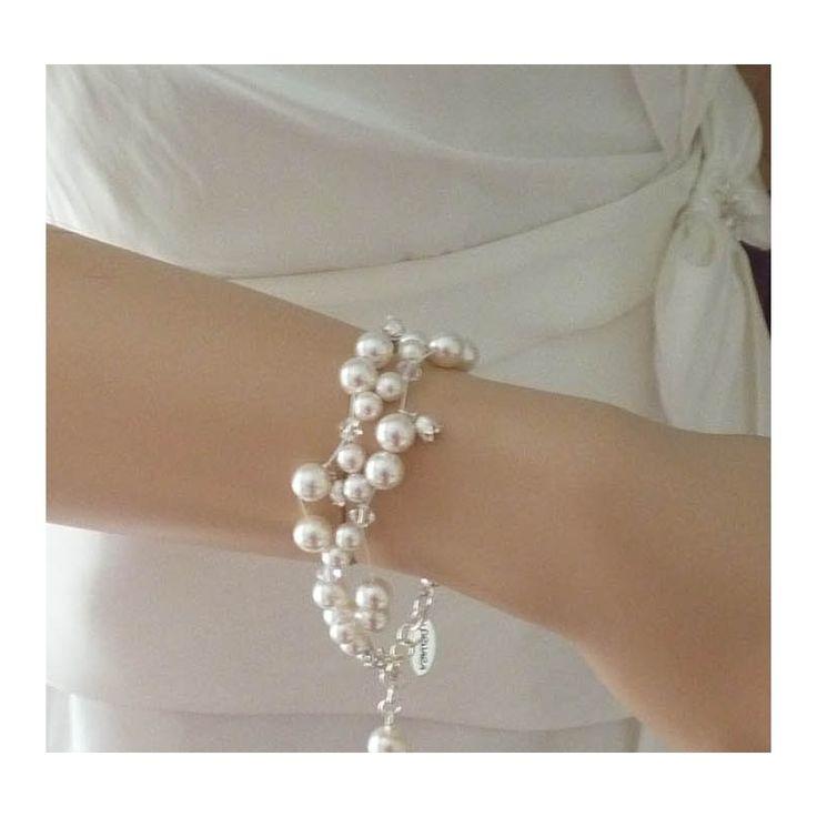 Brautschmuck armband perlen 16 besten Brautschmuck Bilder auf Pinterest | Aussage Ohrringe ...