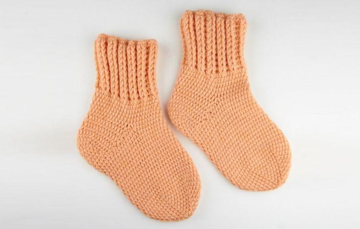 Прочные носки крючком 2 часть - Durable socks crochet