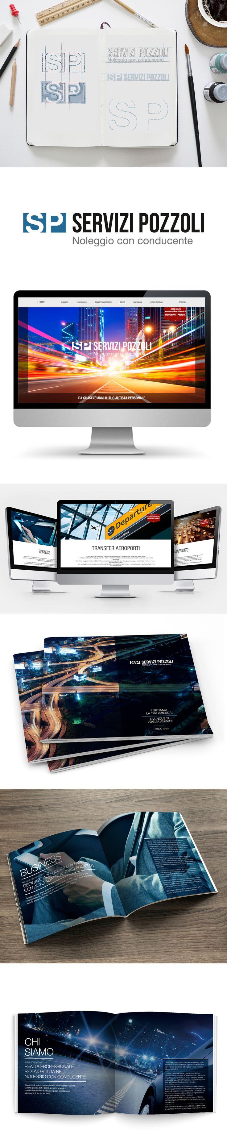 Per Servizi Pozzoli, noleggio con conducente, b_centric ha studiato logo, sito web e brochure aziendale, il tutto mantenendo oltre a una grafica coordinata, anche un linguaggio conciso ed efficace.