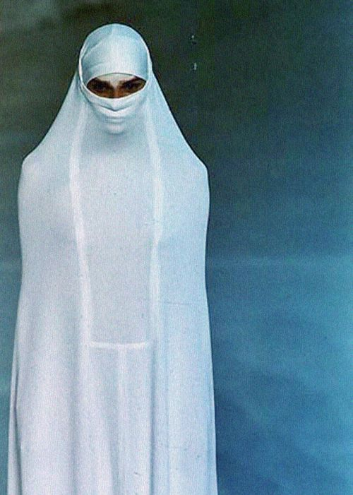 "elhieroglyph: Hussein Chalayan S/S 1998""Between"" THEY ARE FORCED TO DRESS LIKE THIS. IT IS NOT INTERESTING. THEY ARE BRAINWASHED."