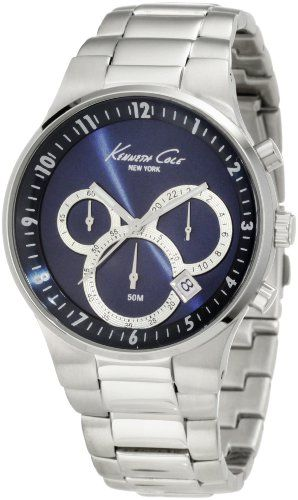 Men's Wrist Watches - Kenneth Cole New York Mens KC9160 Classic 3500 Series Round Chronograph Contemporary SubEye Blue Watch -- Check out the image by visiting the link. (This is an Amazon affiliate link)