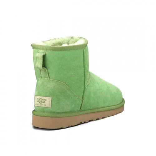 lacné Dámske UGG klasický ovčej kožušina Mini obuv čižmy 5854 zelene