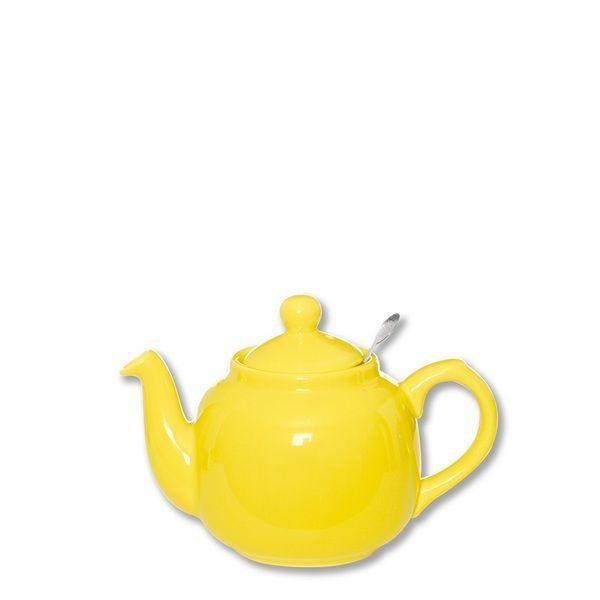 Théière porcelaine Farmhouse jaune PM
