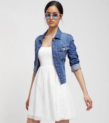ONLY ONLPRINCESS Sukienka biała zwiewna gorsetowa na lato wesele piknik koktajlowa cloud dancer