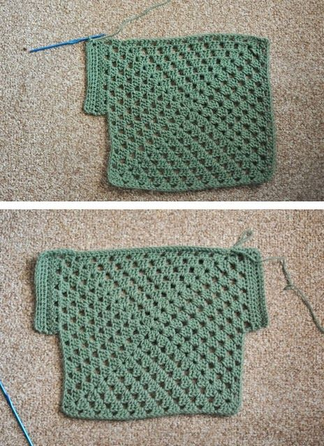 I am scared of garments, but I think I could make this kids granny square top tutorial