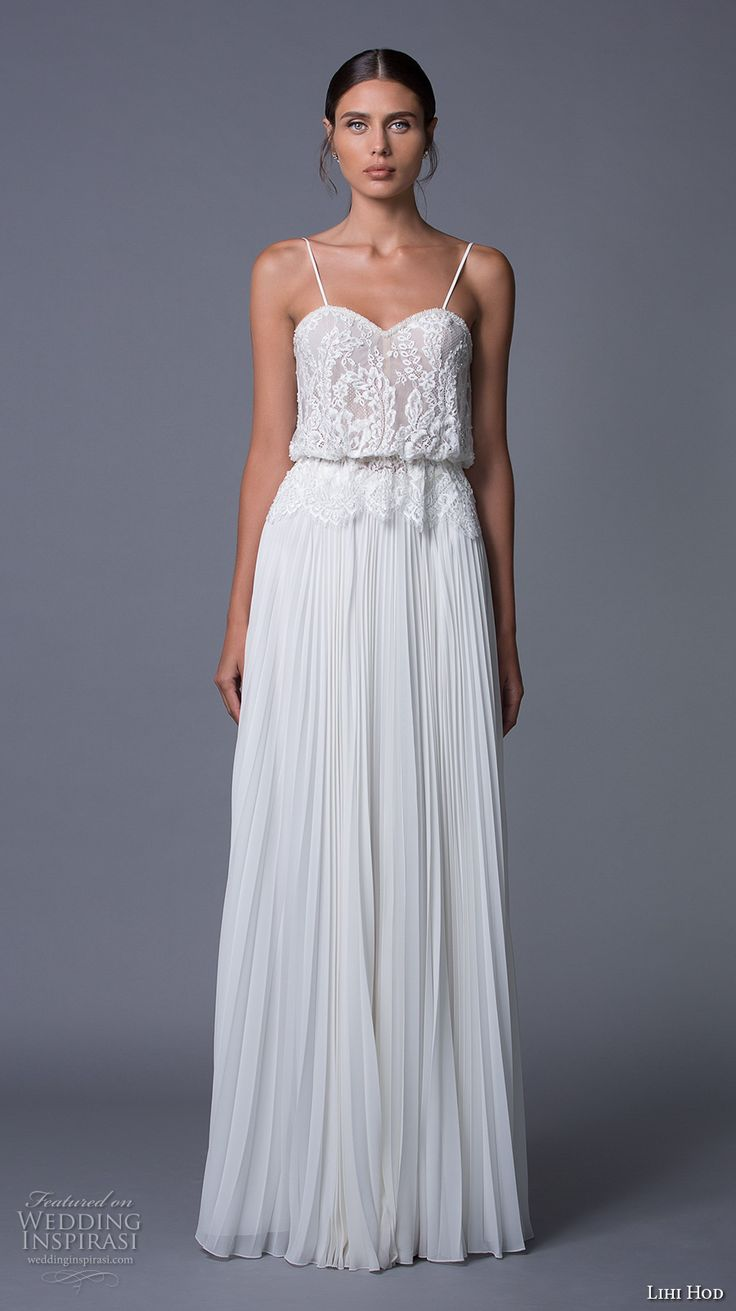 25 best ideas about pleated wedding dresses on