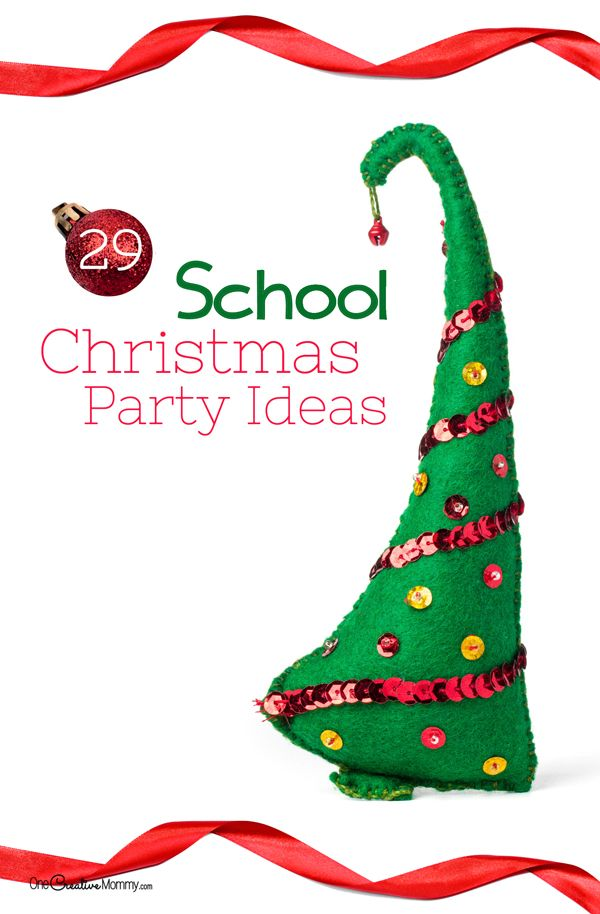 In charge of the classroom Christmas party this year? Check out 29 fantastic ideas to make your school party great! {OneCreativeMommy.com} Games, Crafts and Treats