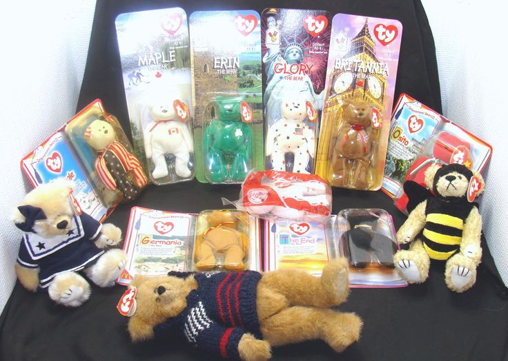 Beanie baby bear collection-vintage beanie babies bears lot-mcdonalds beanie babies-12 beanie baby lot - beanie baby bundle -sealed in bags by BECKSRELICS on Etsy