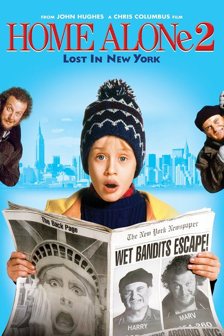 """In HOME ALONE 2: LOST IN NEW YORK, Kevin McCallister is """"home alone"""" in New York City, but he won't be alone for long because the notorious Wet Bandits, Harry and Marv, are also in the Big Apple. Description from tvguide.com. I searched for this on bing.com/images"""