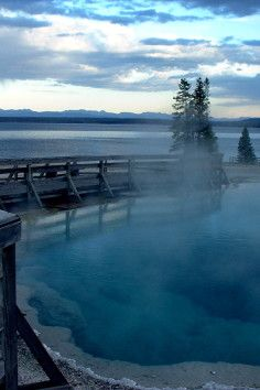 The Black Pool at Yellowstone National Park is intensely beautiful.