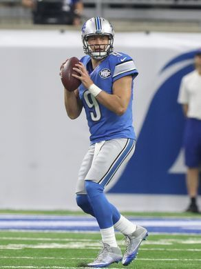 Redskins vs. Lions;   -   October 23, 2016  -  20-17, Lions  -     Lions QB Matthew Stafford passes against the Washington Redskins during the first half Sunday, Oct. 23, 2016 at Ford Field in Detroit.  Kirthmon F. Dozier, DFP