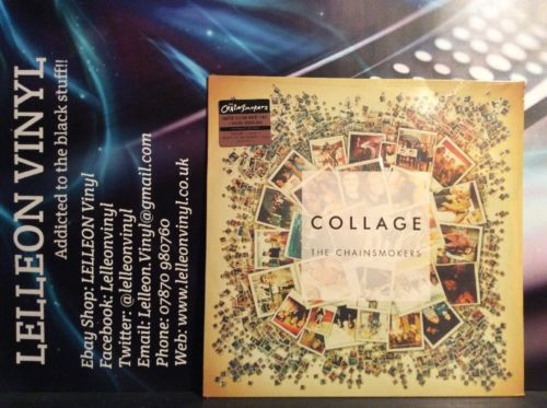 "The Chainsmokers Collage 12"" Limited Edition White 180g NEW SEALED Pop + MP3 Music:Records:12'' Singles:Pop:2000s"