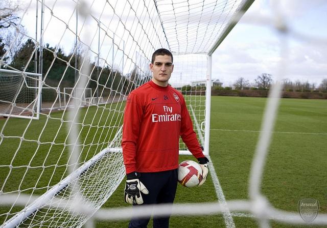 Vito Mannone (Arsenal). Arsenal Training Ground. London Colney, Herts, 9/3/09. Credit : Arsenal Football Club / David Price.