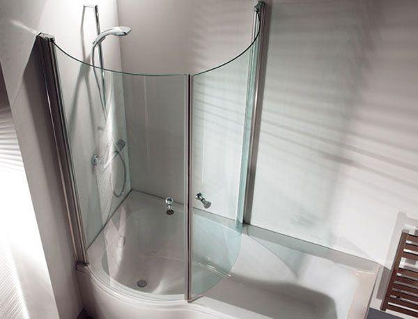 Wanna z prysznicem - PARAWAN zamykany + poszerzona wanna w części prysznicowej