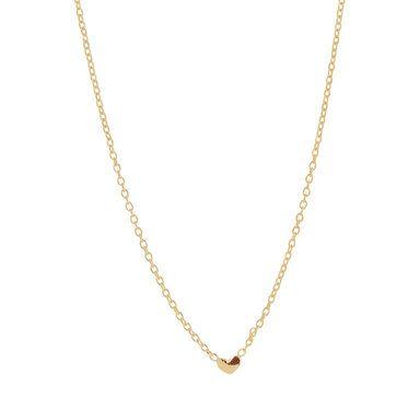 Loving Heart drop necklace, guld