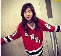 sıcak kpop 2ne1 kırmızı tişörtü uzun kollu oda arkadaşı bom parkı Jenny parkı dara aynı stil hoody