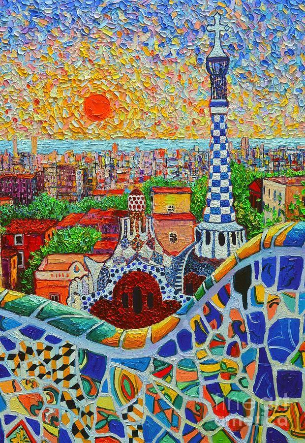 Barcelona Sunrise - Guell Park - Gaudi Tower | Parks ...