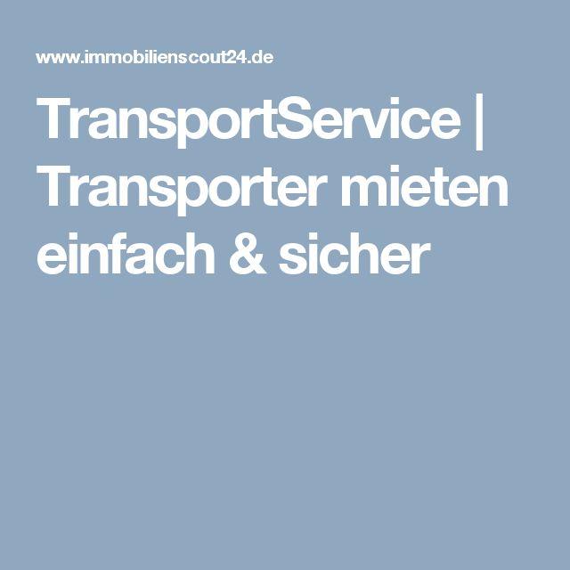 TransportService | Transporter mieten einfach & sicher