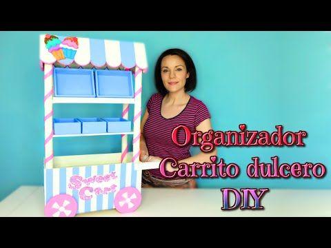 Organizador de cartón en forma de carrito de dulces - Room decor DIY | Manualidades