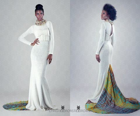 Christie Brown--could make a beautiful African-inspired wedding dress