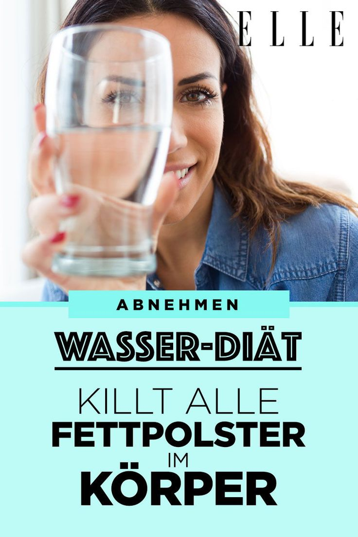 Die Wasser-Diät spült alle Fettzellen aus deinem Körper