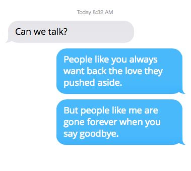 When they realize what they lost: | 16 Ways To Text Your Ex Using Taylor Swift Lyrics