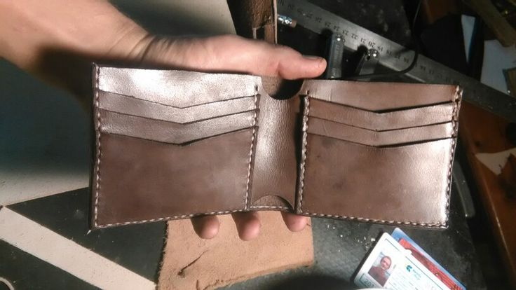 Hand made leathercraft wallet done by us here at alscustoms