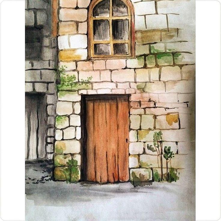 «#watercolor #watercolorpainting #inspiration #акварель #рисунокакварелью #рисунок #рисовашки #oldhouse #door»