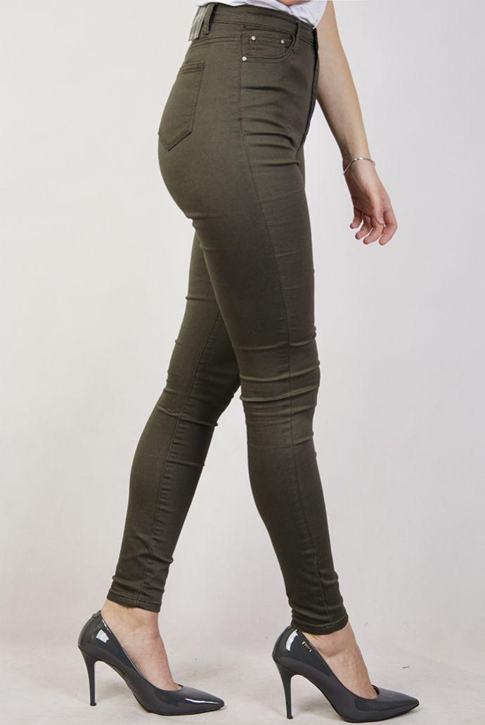 Spodnie jeansowe skinny w kolorze khaki