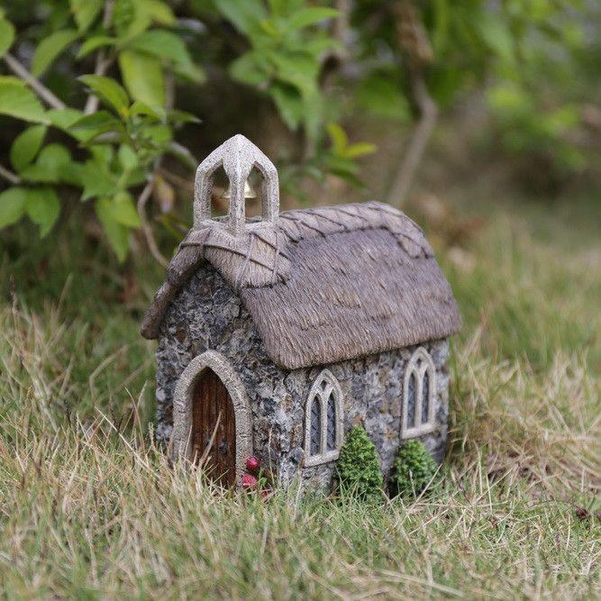Hi-Line Gift Ltd. Fairy Garden Church Statue