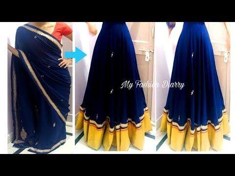 9dfa316e71abab पुरानी साडी से बनाये सुंदर लहंगा   Convert old saree to beautiful lahnga -  YouTube