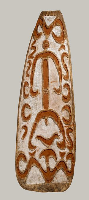 Shield [Asmat people, Monu village, New Guinea, Papua (Irian Jaya) Province, Indonesia] (1978.412.929) | Heilbrunn Timeline of Art History | The Metropolitan Museum of Art