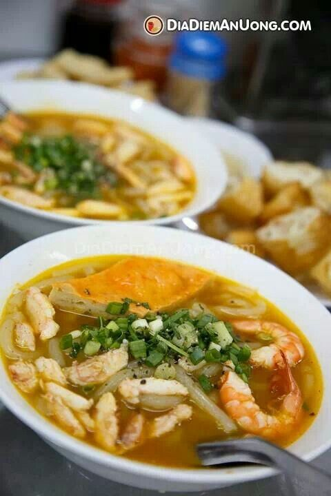Crab rice noodle'Bánh canh. | FOOD/ Vietnamese | Pinterest