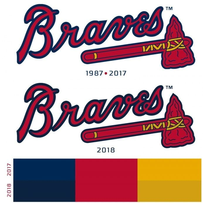 #atlantabraves update their color scheme... Barley. #mlb #newlogo #braves #cubs #rockies #dbacks #dodgers #giants #padres #brewers #cardinals #brewers #nationals #mets #marlins #phillies #reds #pirates #yankees #redsox #bluejays #orioles #rays #royals #tigers #whitesox #twins #mariners #angles #astros