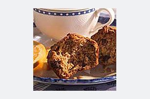 Studded with raisins, these moist, bran cereal muffins are flavored with a touch of cinnamon. Serve them for breakfast or a nutritious snack.